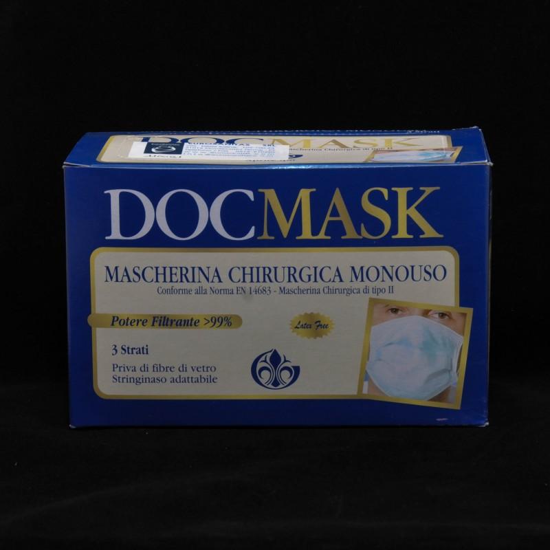 mascherina 3m 1828 chirurgica 3 strati con elastici