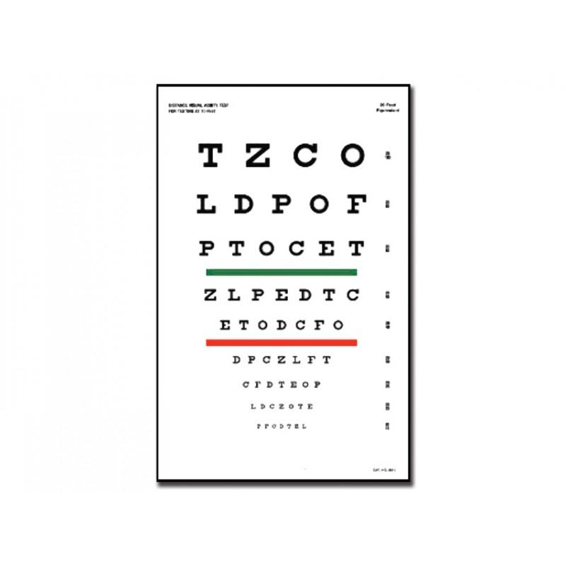 Tavola optometrica snellen 23 x 35 5 3 m eurosanitas - Tavole di ishihara test ...
