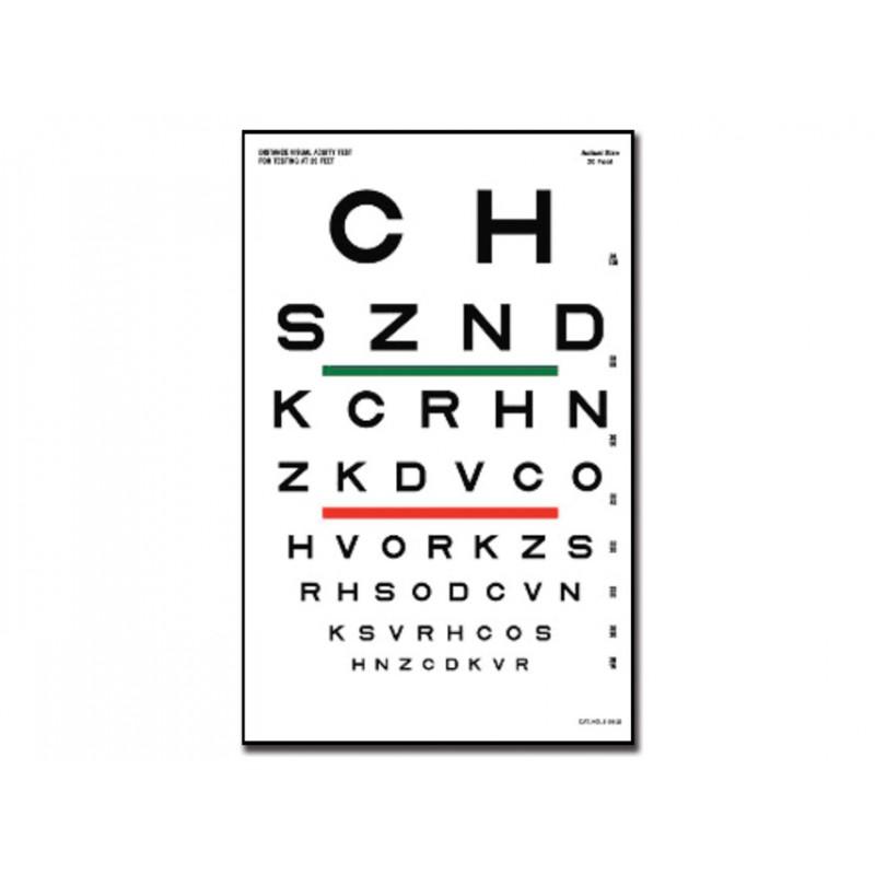 Tavola optometrica sloan 23 x 35 5 6 1 m eurosanitas - Tavole di ishihara test ...