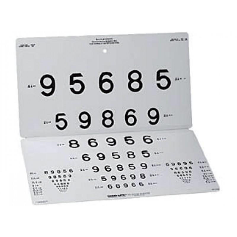 Tavola numeri lea da lontano 3 m eurosanitas - Tavole di ishihara test ...