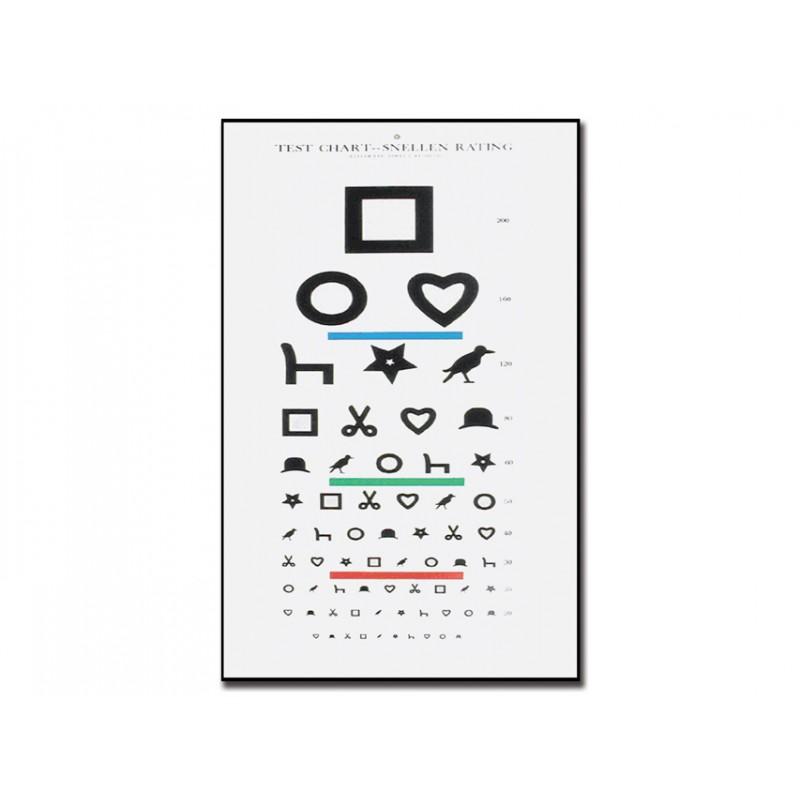Tavola optometrica illetterati 28 x 56 6 1 m eurosanitas - Tavole di ishihara test ...